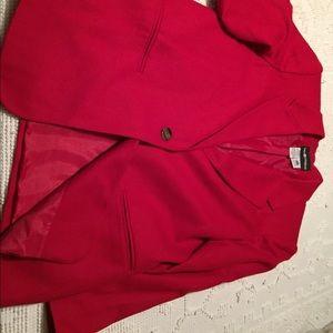 Blazer by Sag Harbor! Red Wool